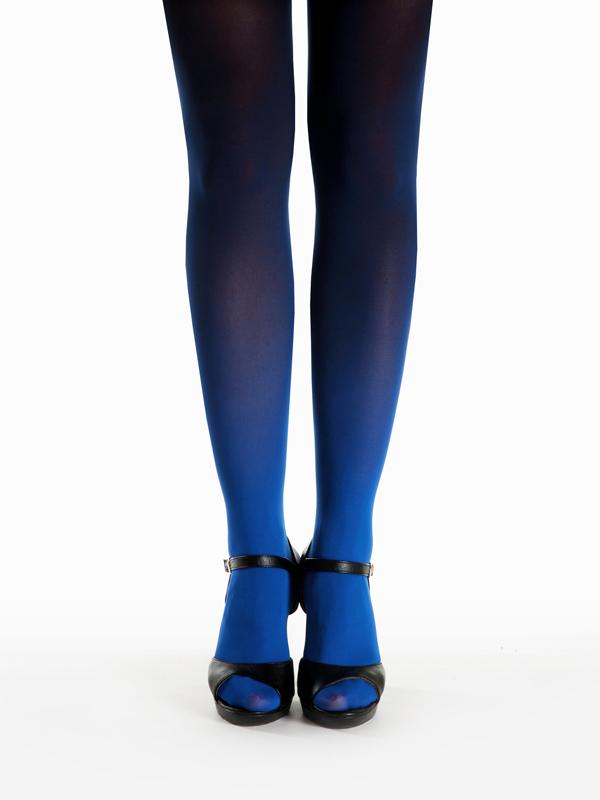 Blau-schwarz Strumpfhose