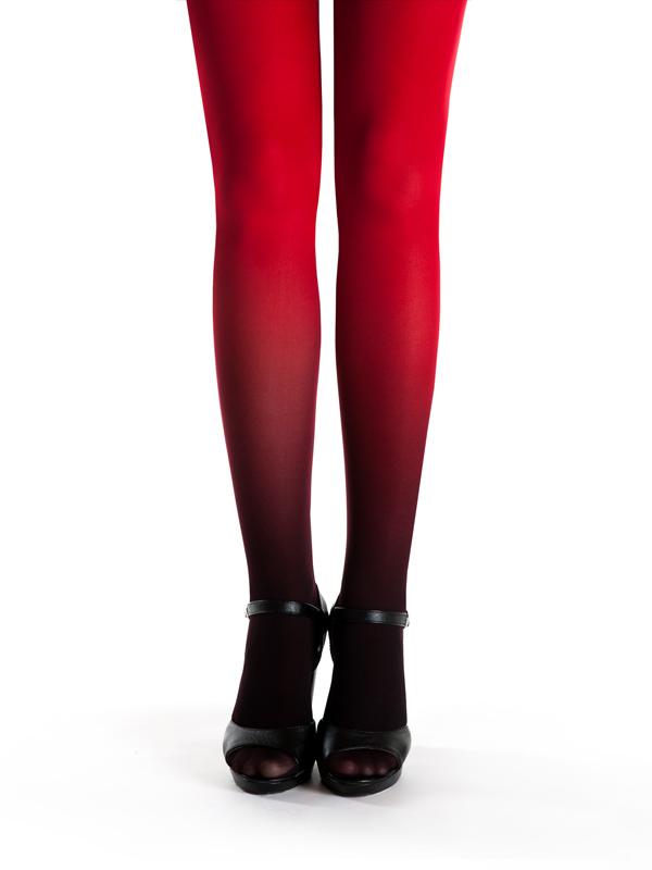 Schwarz-rot Strumpfhose