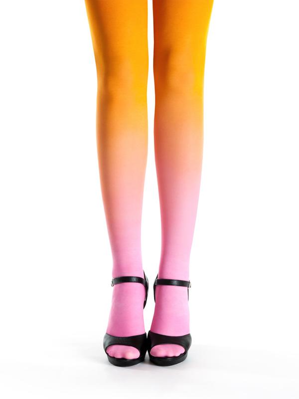 Pink-orange Strumpfhose