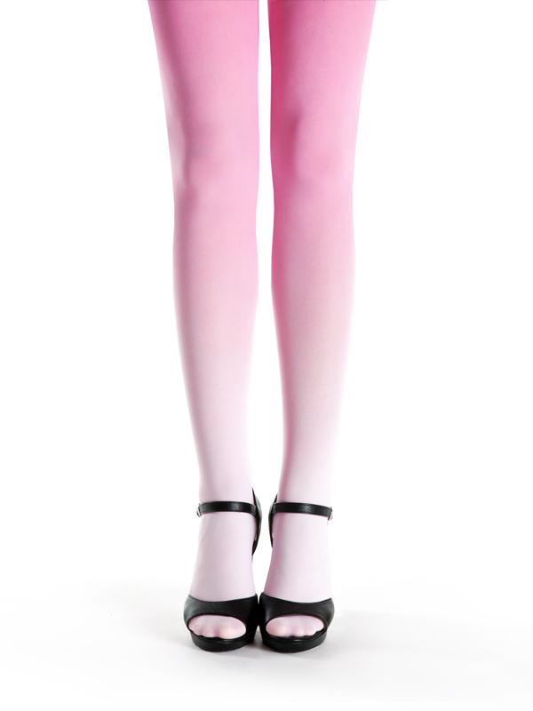 Pink Strumpfhose Mit Farbverlauf
