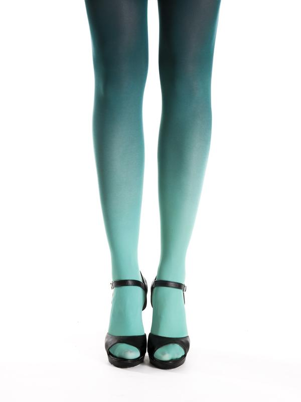 Blaugrün Strumpfhose