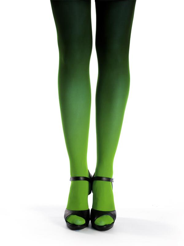 Grün-schwarz Strumpfhose