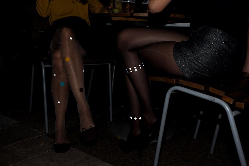 Reflective tights by Virivee