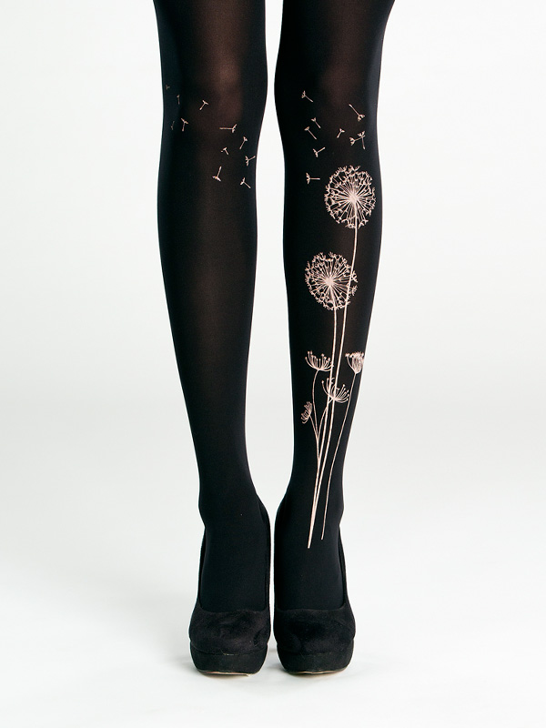 Black dandelion tights