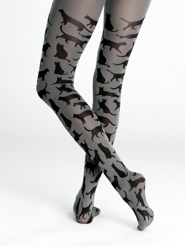 Cat silhouette tights by Virivee