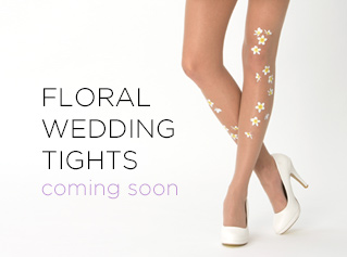 Virivee floral wedding tights - coming soon
