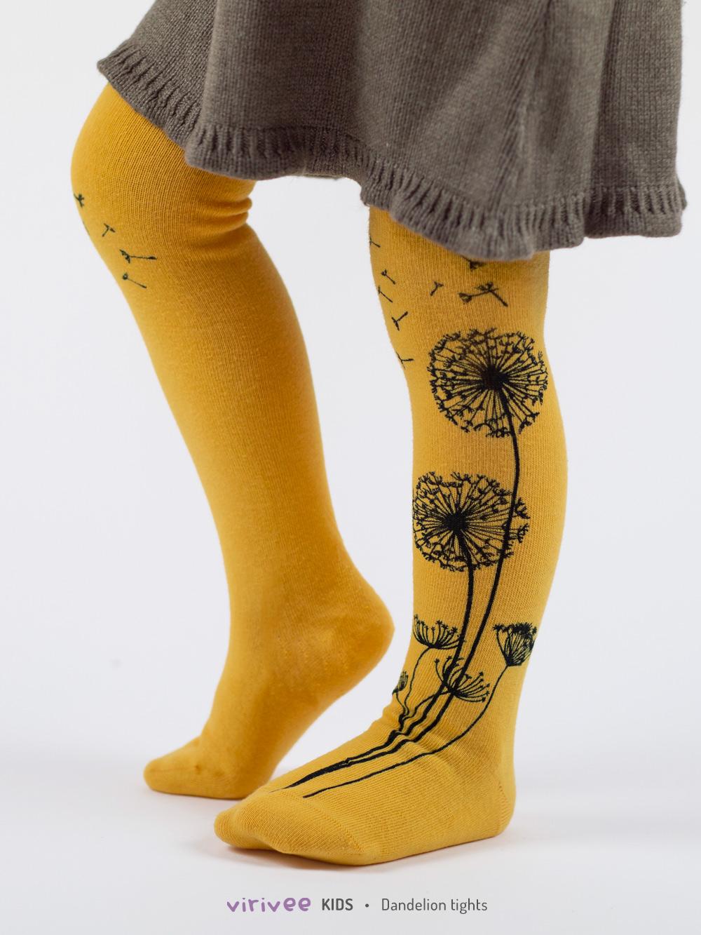Pusteblume Kinderstrumpfhose Gelb