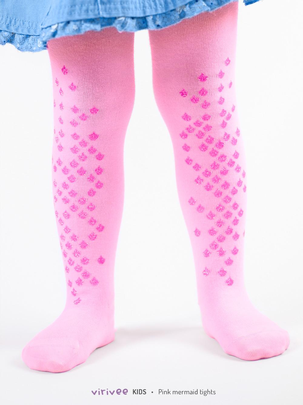Meerjungfrau Kinderstrumpfhose Pink