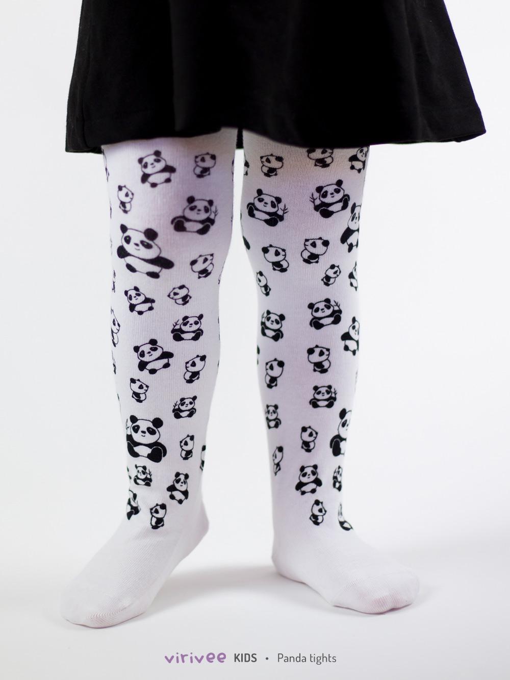 Panda Kinderstrumpfhose In Weiss