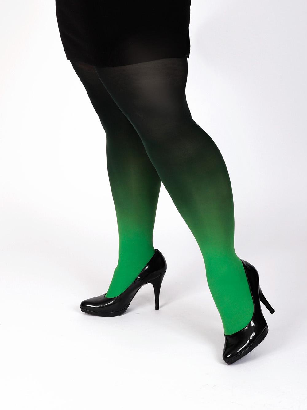Plus Size Grün-schwarz Strumpfhose