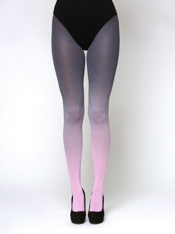 Pink-grau Strumpfhose