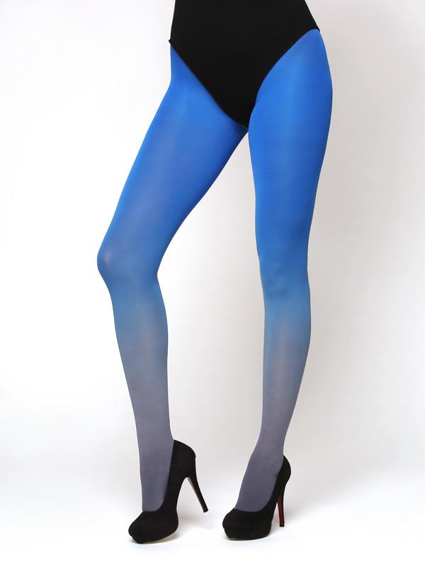 Grau-blau Strumpfhose
