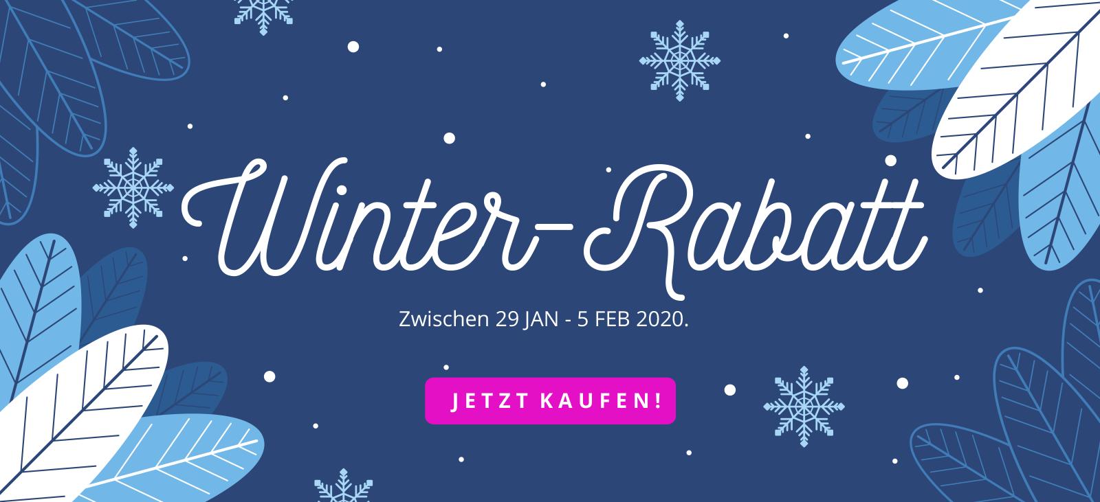 Virivee Winter-Rabatt